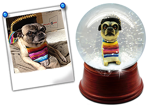 Hand Made Custom Snow Globe Pet Made To Look Like Your Photo By Jj