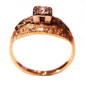 Custom Made Art Deco Diamond Ring