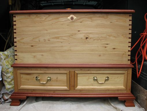 Custom Made Blanket Chest With Drawers (Elm And Cedar)