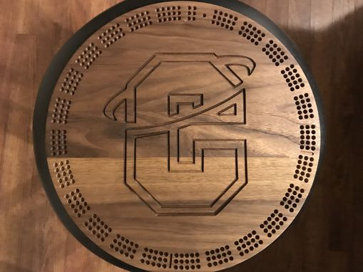 Custom Made Cribbage Board, Large With Logo