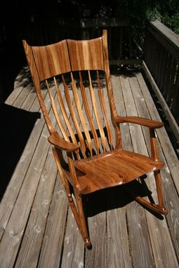 Custom Made Zebra Wood Rocker With Wenge Accents