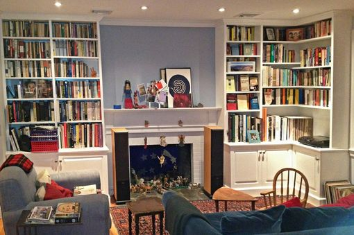 Custom Made Painted Living Room Cabinets And Bookshelves