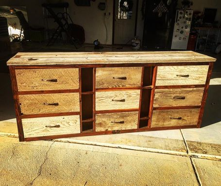 Custom Made Reclaimed Barnwood Dresser