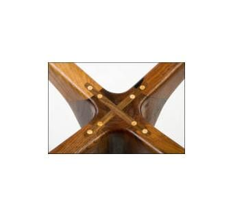 Custom Made Mahogany Wooden Hinge Table
