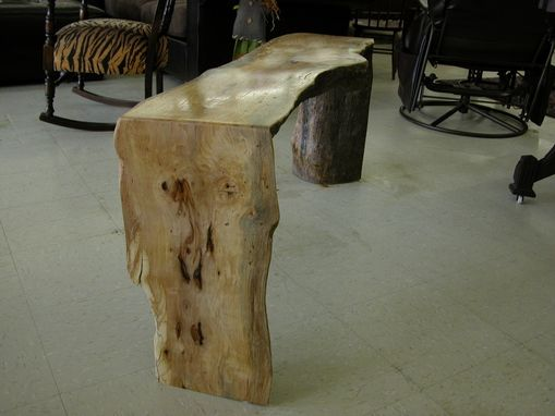Custom Made Pecan Natural Edge Bench