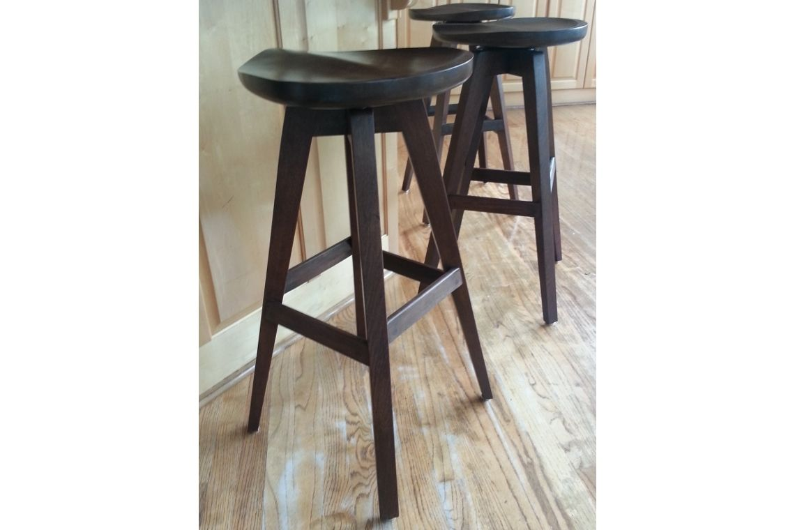 Hand Made Tractor Seat Stools With Swiveling Seats By