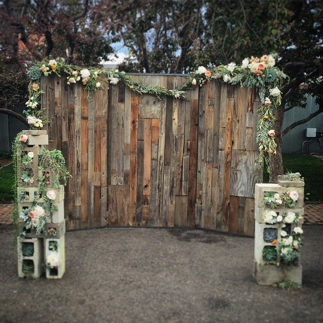 Custom Wood Wall Wedding Backdrop By Edison Metalworks