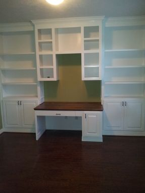 Custom Made Home Office Book Shelves And Desk
