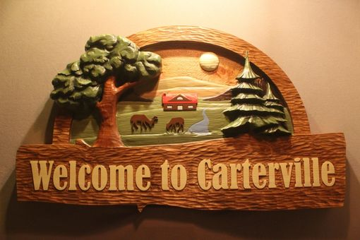 Custom Made Custom Carved Cabin Signs By Lazy River Studio