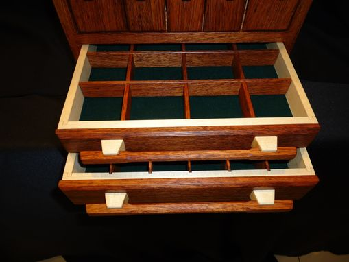 Custom Made Jatoba Jewelry Box For Necklaces