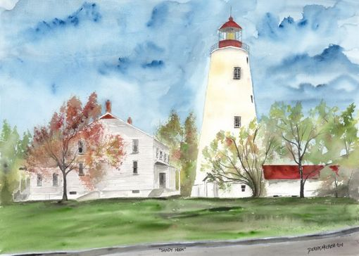 Custom Made Lighthouse Watercolor Paintings