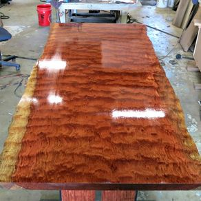 Live Edge Bubinga Dining Table 3be19d620