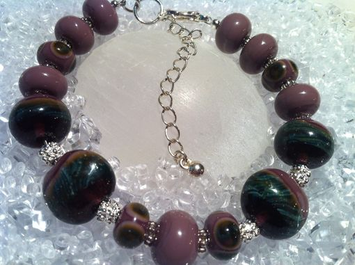Custom Made Bracelet-Mauve & Purple