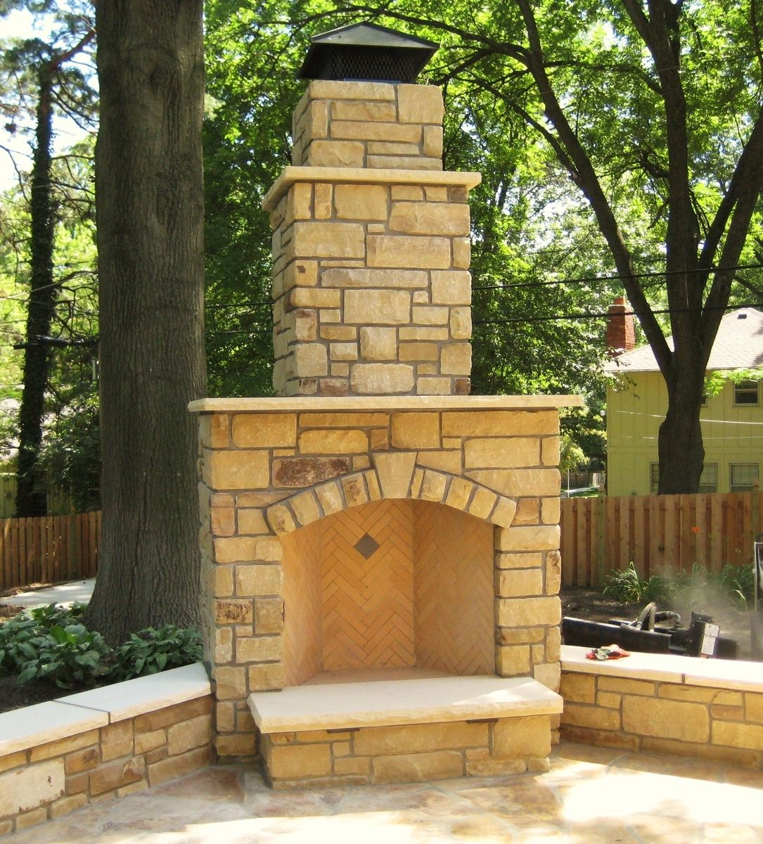 Hand Crafted 42 Outdoor Rumford Fireplace By Stone Creek
