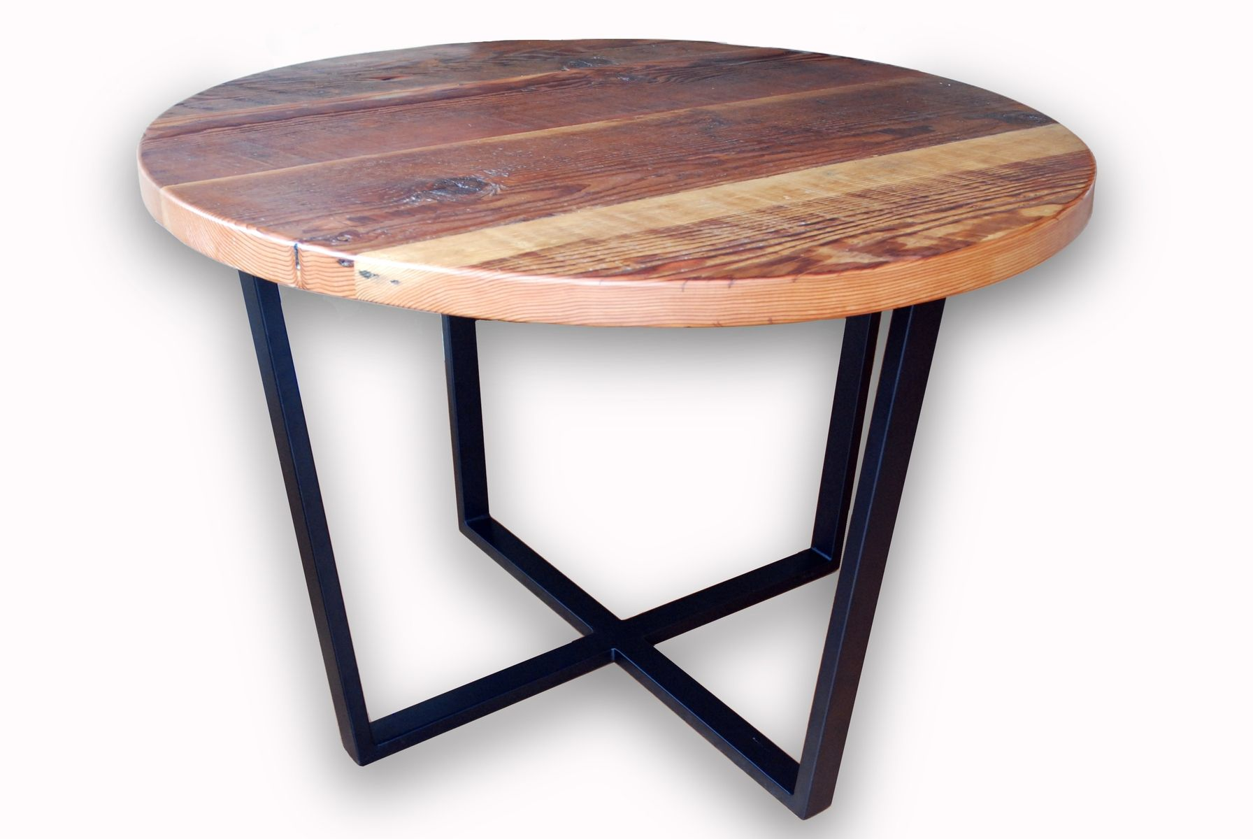 Handmade Reclaimed Timber Round Dining Table By Jonathan