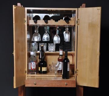Custom Made Nfs-Wine Cabinet