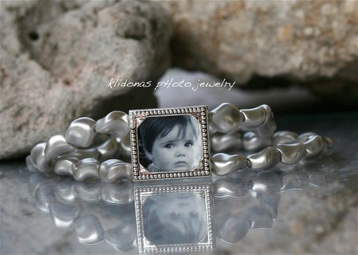 Custom Made Wedding Bracelet, Brides Bracelet, Photo Bracelet, Custom Photo Bracelet