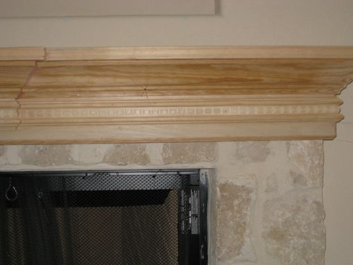 Custom Made Flat Screen Mantle