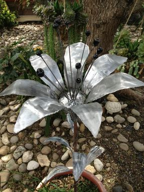 Custom Made Metal Sculpture Of A Lilly