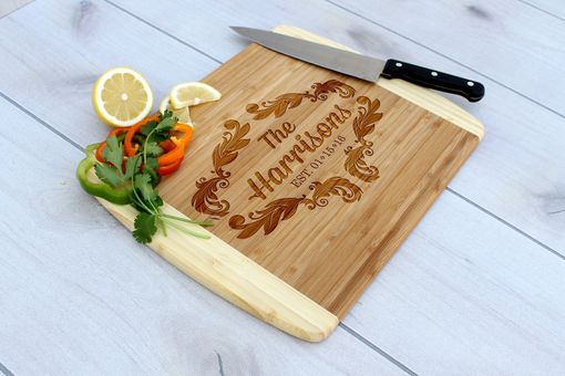 Custom Made Personalized Cutting Board, Engraved Cutting Board, Custom Wedding Gift – Cb-Bam-Harrison