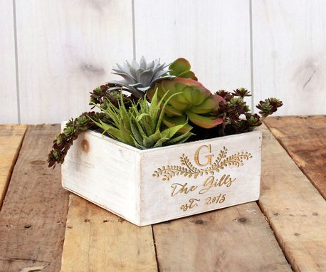 Custom Made White Wash Planter Box --Pb7x7-Wwash-Gillis