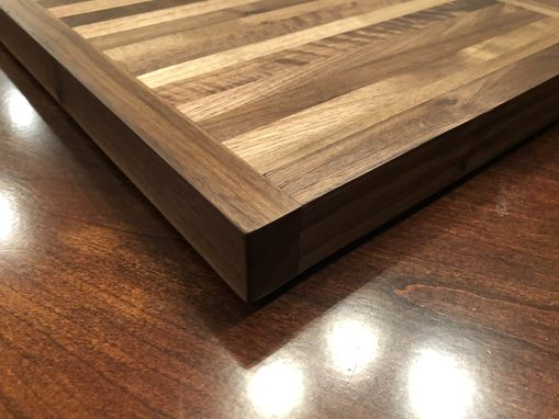 Custom Made Black Walnut Heavy Duty Butcher Block Cutting Board