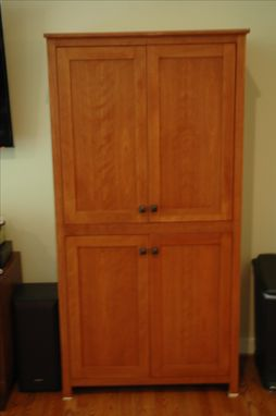 Custom Made Cherry Storage Armoire