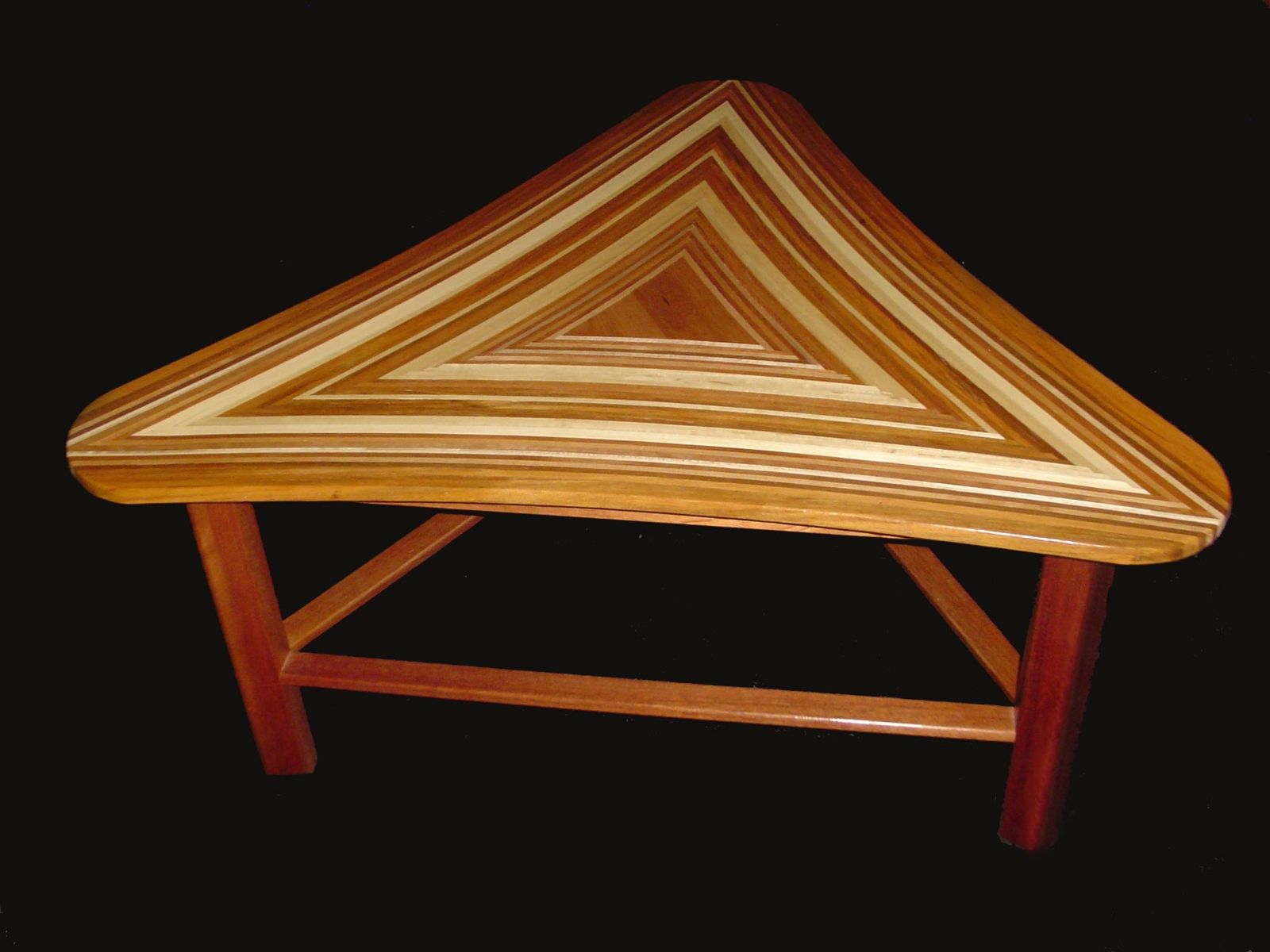 Hand Crafted Triangle Coffee Table by Great Dane Woodsmith