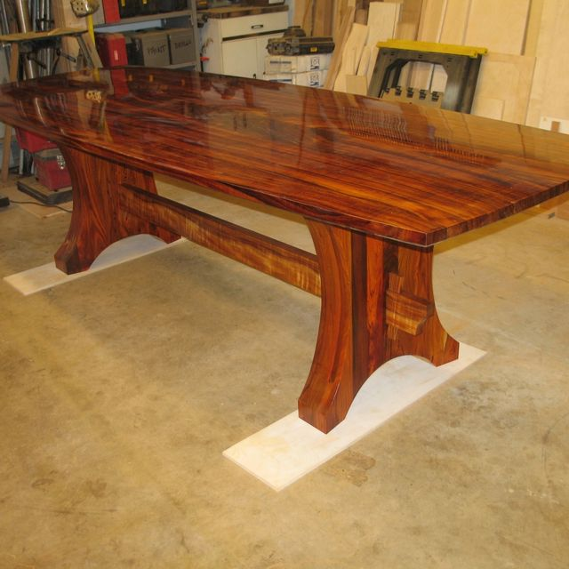 Hand Made Curly Koa And Cocobolo Dining Set By Daffinrud Arts Custommade