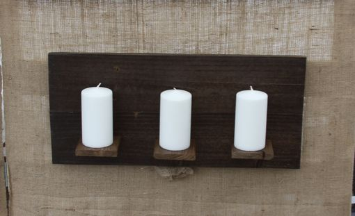"Custom Made 24"" Wood Candle Holder Panel"