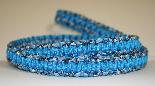 Custom Made 4 Ft Blue & Blue Camo Paracord Leash