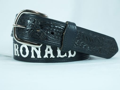 Custom Made Personalized Silver Letter Name Belt