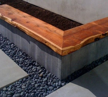 Custom Made Redwood Slab Bench
