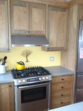 Custom Made Red Birch Kitchen Cabinets