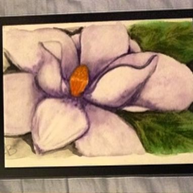 Custom Made Watercolor Purple Magnolia