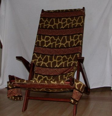 Custom Made Giraffe Print Chair