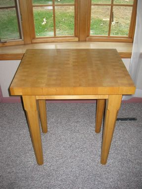 Custom Made Maple Butcher Block Table