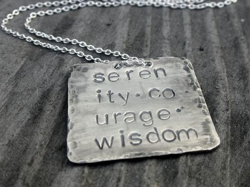 Custom Made Wisdom Tag In Sterling Silver