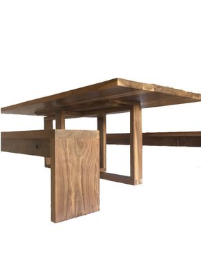 Custom Made Solid Walnut Handcrafted Modern, Contemporary Dining Table