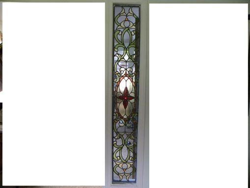Custom Made Victorian Design Stained Leaded Glass Window Wall Divider