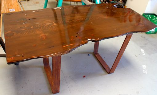 Custom Made Old Growth Redwood Live Edge Desk