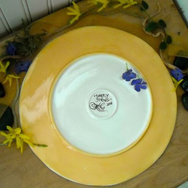 Custom Made White Flower Plate