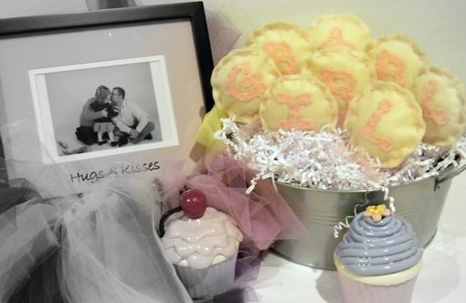 Custom Made Yellow And Cream Felt Lollipops For Baby Girl