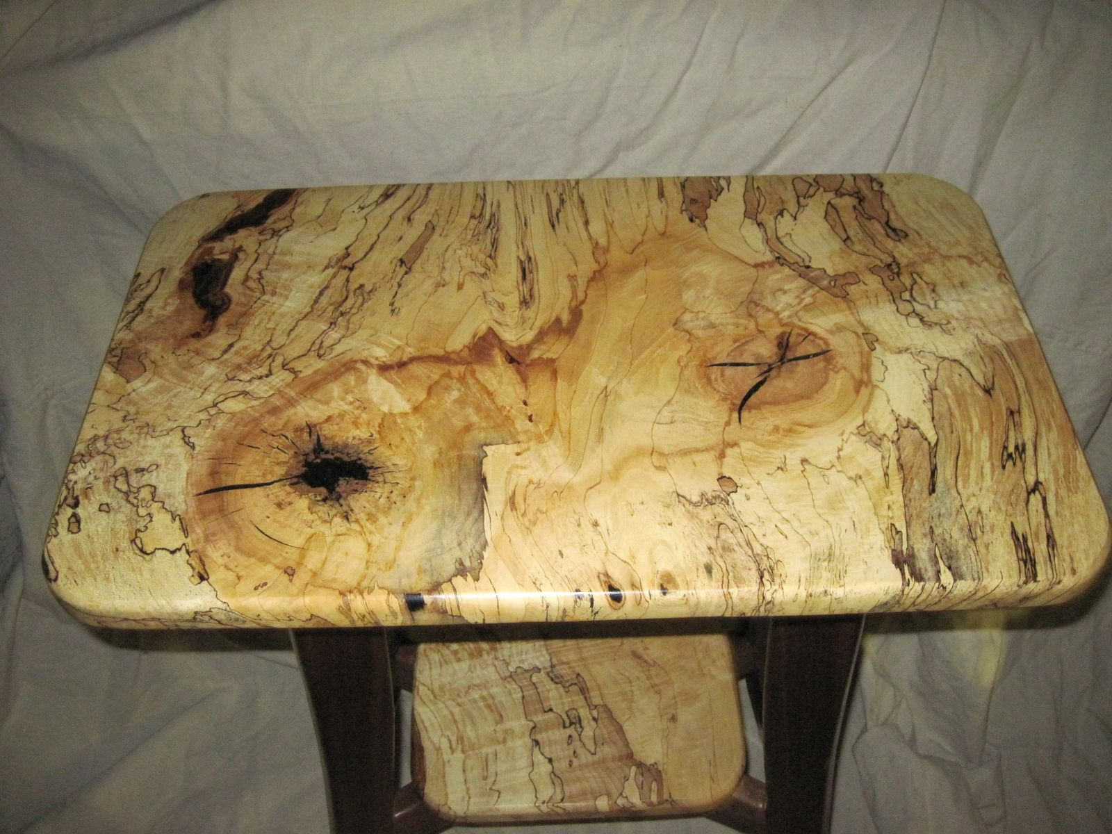 Handmade Spalted Maple Table By Everlasting Woods