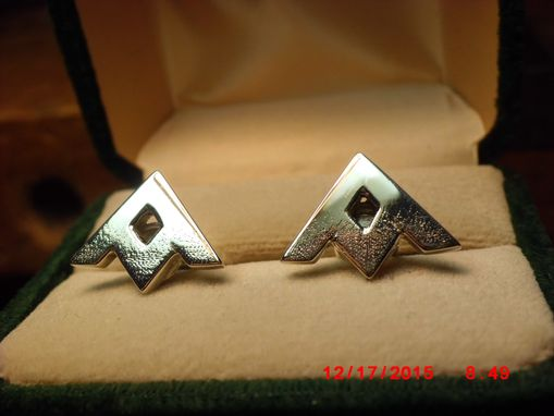 Custom Made Silver Cufflinks (2-Pair) Cut-Out Company Logos
