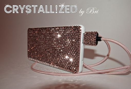 Custom Made Crystallized Wireless Battery Pack Charger Made With Swarovski Crystals