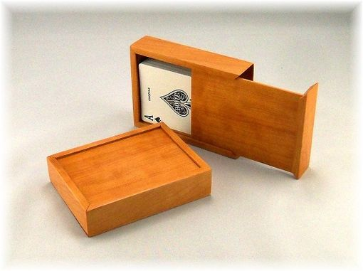 Custom Made Engraved Wood Playing Card Box (Engraving Included!)