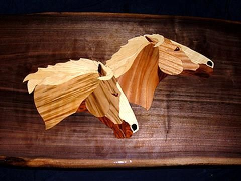 "Custom Made Coffee Table - ""Wind Walkers"""
