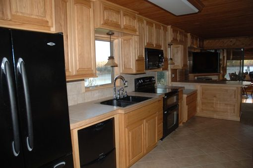Custom Made Hickory Kitchen Cabinets