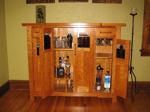 Custom Made Greene & Greene Liquor Cabinet